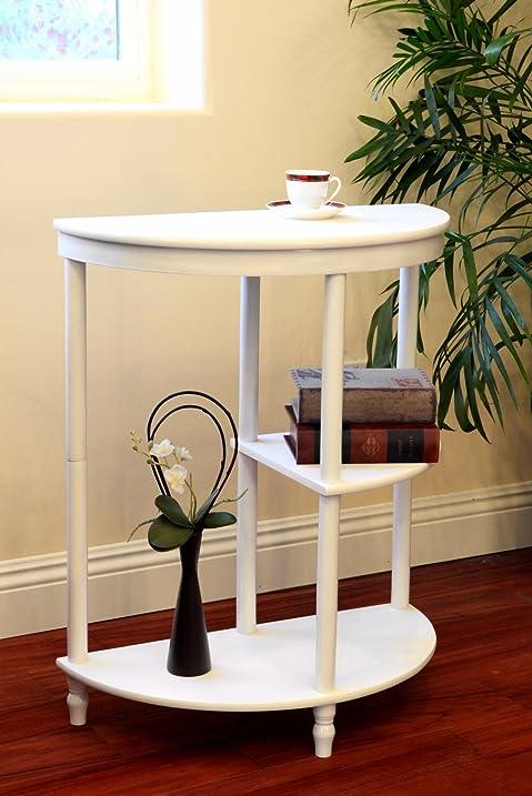 Frenchi Home Furnishing Half Moon Console Table  White. Amazon com  Frenchi Home Furnishing Half Moon Console Table  White