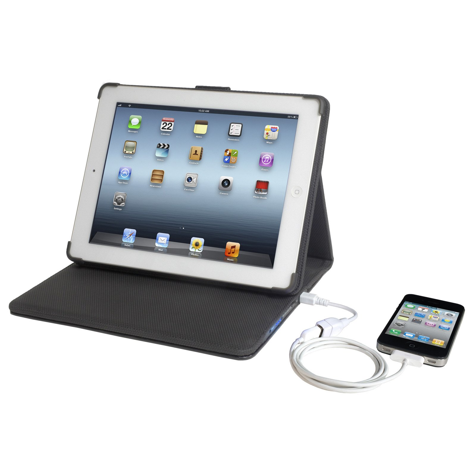 PCT Brands Props 12,000mAh Power Folio Case for iPad 2 by PCT Brands (Image #2)