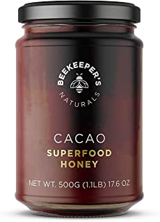 product image for Beekeeper's Naturals Superfood Cacao Honey - Raw Honey with Organic, Raw Ecuadorian Cacao, Filled with Antioxidants, Iron and Calcium - Paleo-Friendly, Gluten, Dairy, Egg & Sugar Free (1.1lbs)