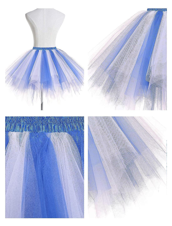 Wedtrend Jupe Courte Tutu Danse en Tulle sous Robe Vintage Carnaval Halloween No/ël Multicolore
