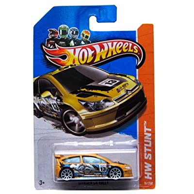 Hot Wheels HW Stunt 91/250 Citroen C4 Rally Card Variant: Toys & Games
