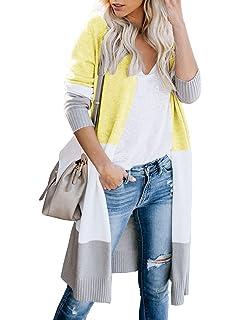 28a68b5cc8 Lovaru Womens Long Cardigans Striped Fall Oversized Lightweight Open Front  Sweater Tops