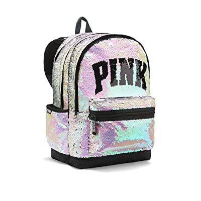 Bling Campus Backpack Silver Gold Full Sequined Zipper School Bag | Kids' Backpacks