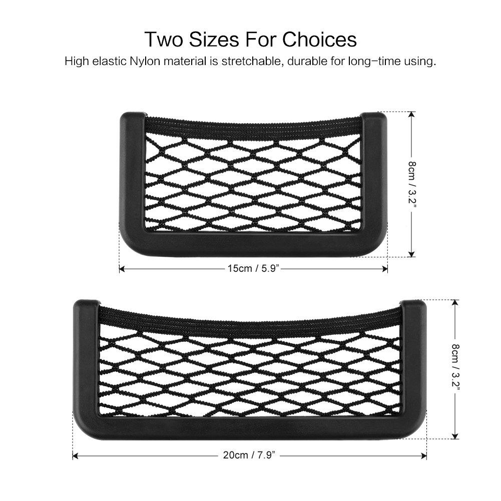 15 * 8cm DEBEME Universal Car Seat Back Storage Net Bag Auto Car Door Side Storage Elastic String Bag Mesh Pocket Organizer Bag