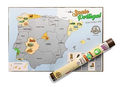 Spanische Karte.Spanien Scratch Map By Benbridge Spanische Karte Zum