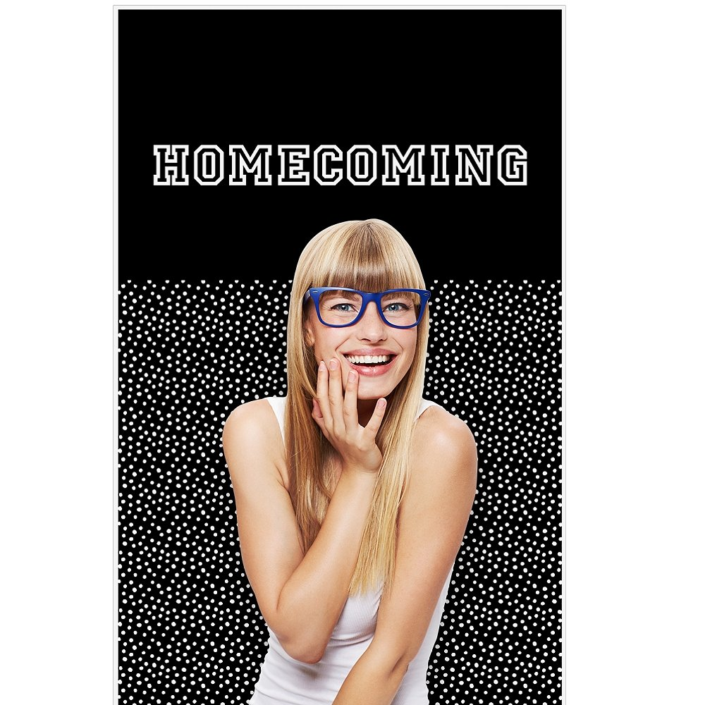 Big Dot of Happiness Homecoming - Football Themed School Dance Photo Booth Backdrops - 36'' x 60''