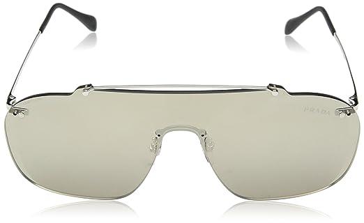 Prada Sport Herren Sonnenbrille 0PS51TS 1BC128, Silber (Silver/Brown Gold), 37