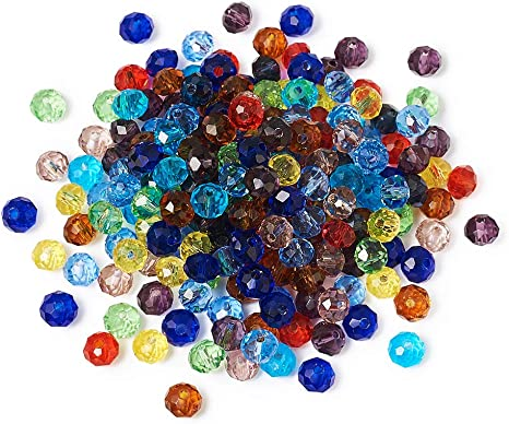 Wholesale Faceted Mixed colors Rondelle glass crystal beads 4*6mm 100pcs