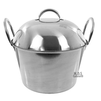 "Cazo 21"" Dome Lid Steamer Stainless Steel Caso Heavy Duty Carnitas Vaporera"