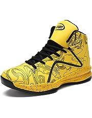 LANSEYAOJI Hombre Zapatillas de Baloncesto Calzado Deportivo Al Aire Libre Moda High-Top Sneaker Antideslizante