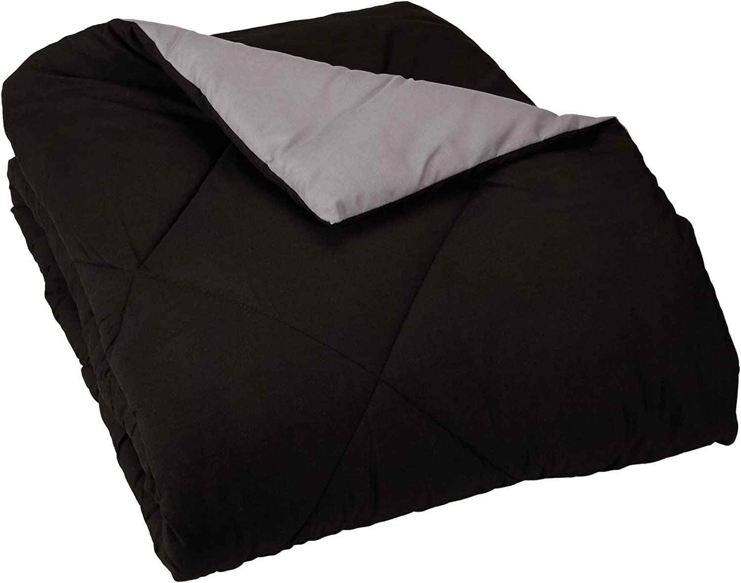 AmazonBasics Reversible Microfiber Comforter Blanket - Pack of 4, Twin or Twin XL, Black