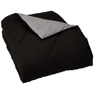 AmazonBasics Reversible Microfiber Comforter - King, Black