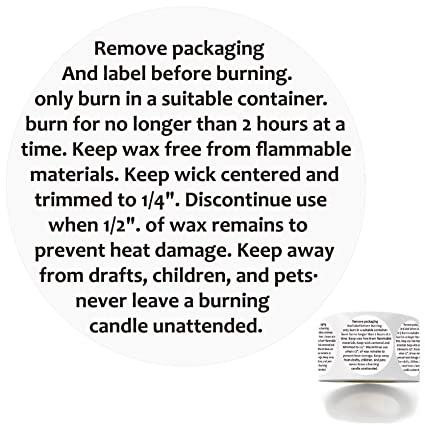 300 2 Inch Circles Candle Warning Labels Candle Jar Container Stickers Waterproof Candle Safety Labels Sticker Decal for Candle Jars,Tins