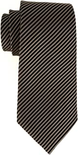 product image for David Donahue 100% English Silk Neck Tie in Black/Charcoal (NT11614015)