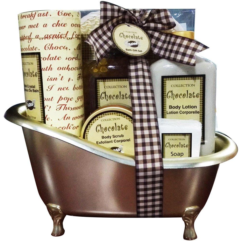 Baignoire de Bain - Gold - Musc & Fleurs - 8 Pcs, Coffret Cadeau-Coffret de bain Gloss! FD7D018-LUX