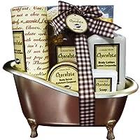 Gloss! Baignoire de Bain Chocolat 6 Pièces, Coffret Cadeau-Coffret de bain