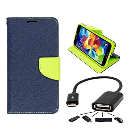 info for d73be 9c8ba Samsung Galaxy J2 Flip Cover By Online Street (Blue + OTG Cable)