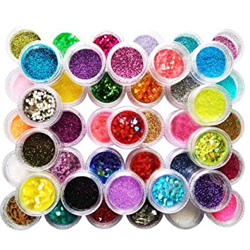 Happlee Slime Supplies Kit Shiny Nail Art Decorations Nail Glitter