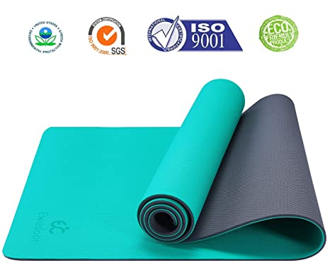 Ewedoos Eco Friendly Yoga Mat Pro Series, Upgraded Textured Surface for Ultra Grip, Non Slip Yoga Mat & Workout Mat for Yoga, Pilates and Fitness, ...