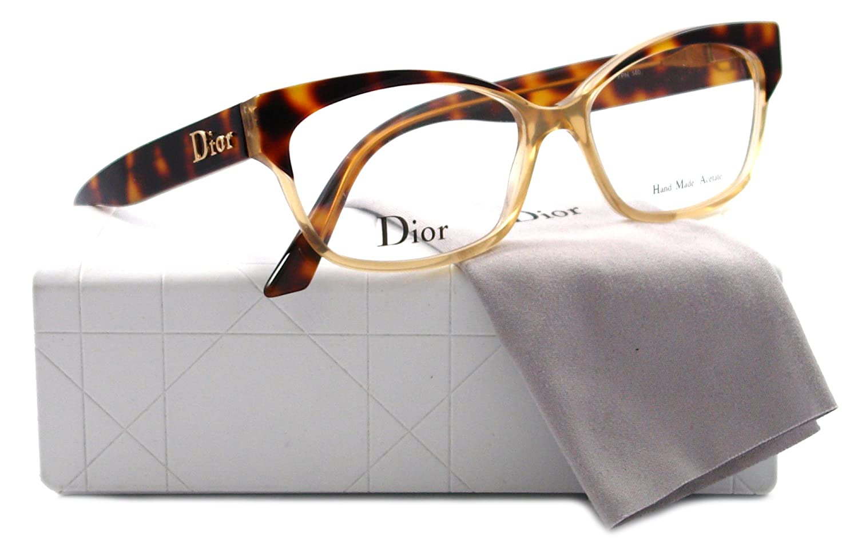 b615959173d Dior 3197 (0FPN) Havana Honey 53mm  Amazon.co.uk  Clothing