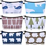 6 Pieces Makeup Bag Toiletry Pouch Waterproof Cosmetic Bag with Mandala Flowers Llama Sloth Unicorn Patterns, 6 Styles…