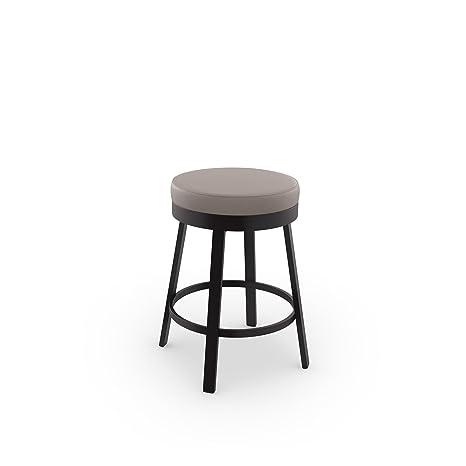 Sensational Amisco Clock Swivel Metal Counter Stool 26 Inch Dark Brown Metal And Warm Grey Polyurethane Bralicious Painted Fabric Chair Ideas Braliciousco