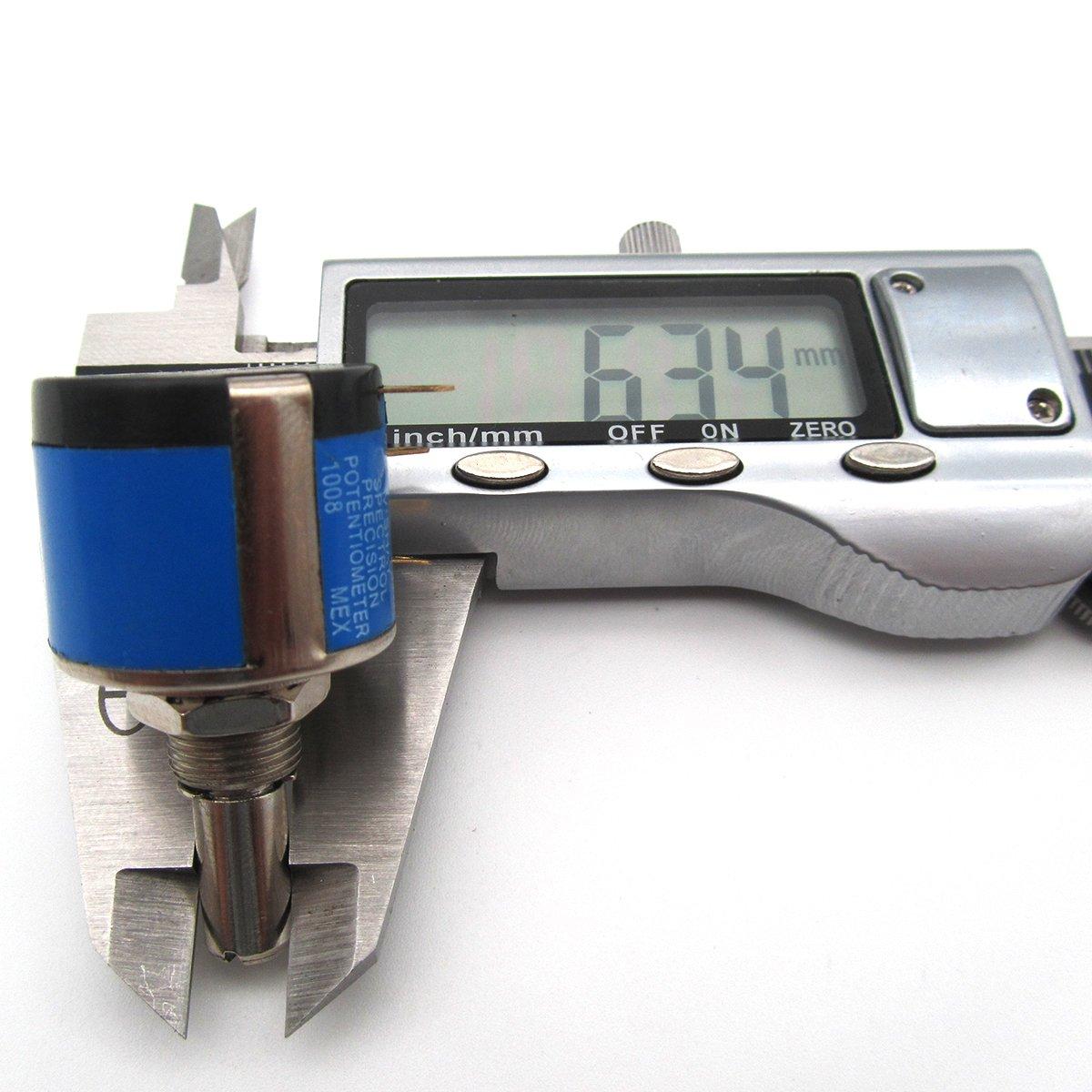 KUNPENG - Potenciómetro de eje # 534-1-1 1K 6.34mm AJUSTE ...