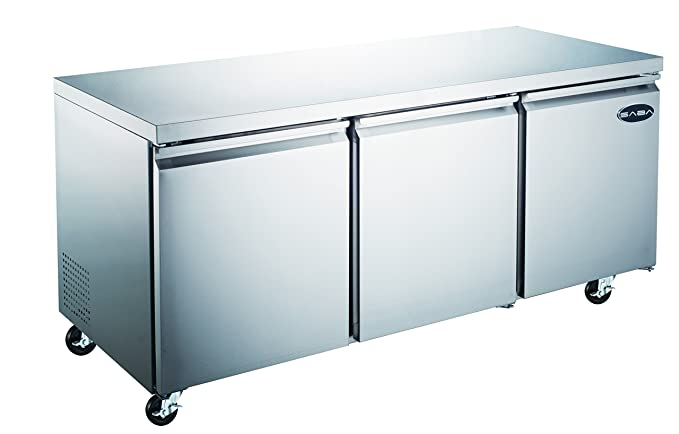 commercial under counter refrigerator cooler with 3 door and 72 in length - Commercial Undercounter Refrigerator