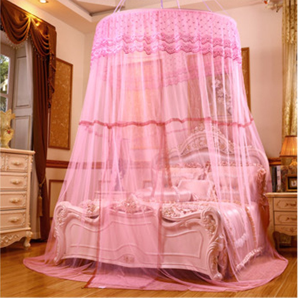 POPPAP Bed Canopy Extro Large Ceiling Hanging Dream Tent for Kids Girls Boys Bedroom Decor Pink Color (Little Princess) by POPPAP (Image #2)