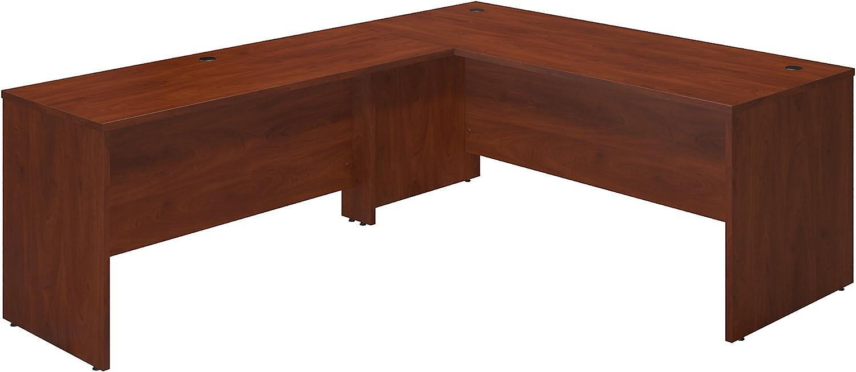 Bush Business Furniture Series C Elite 72W x 30D Desk Shell with 60W Return in Hansen Cherry