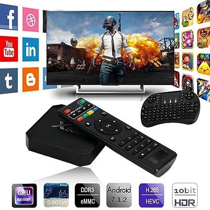 Amazon com: Cewaal (US Plug)TV Box,X96 Mini Android 7 1