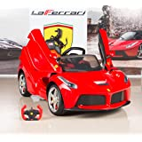 BigToysDirect 12V Ferrari LaFerrari Kids Electric Ride On Car with MP3 and Remote Control - Red