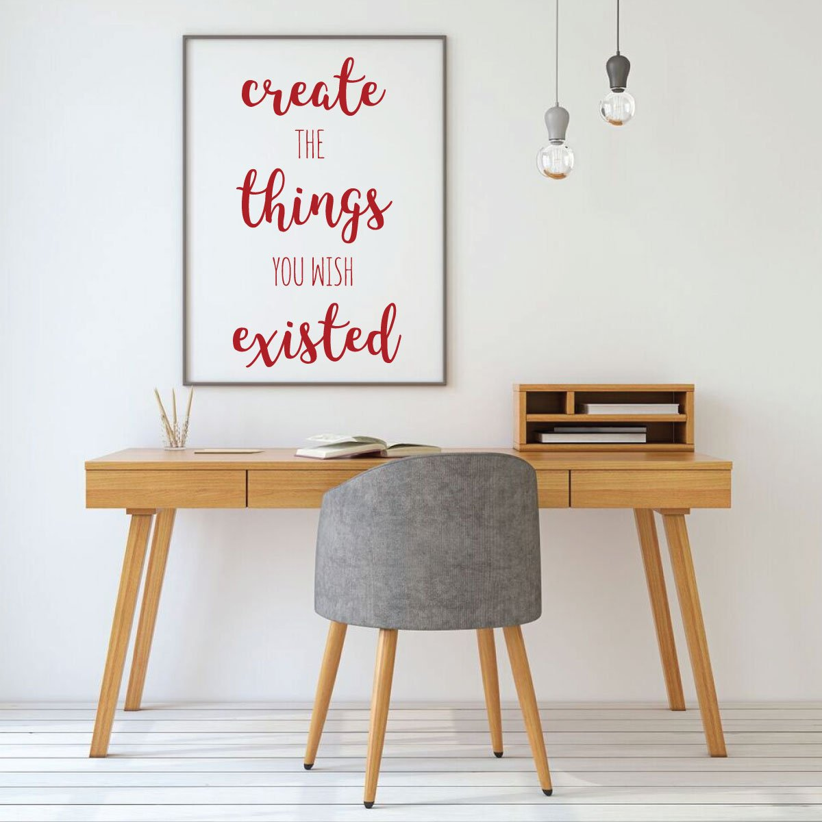 Amazon.com: Inspirational Wall Decal - Create The Things You ...