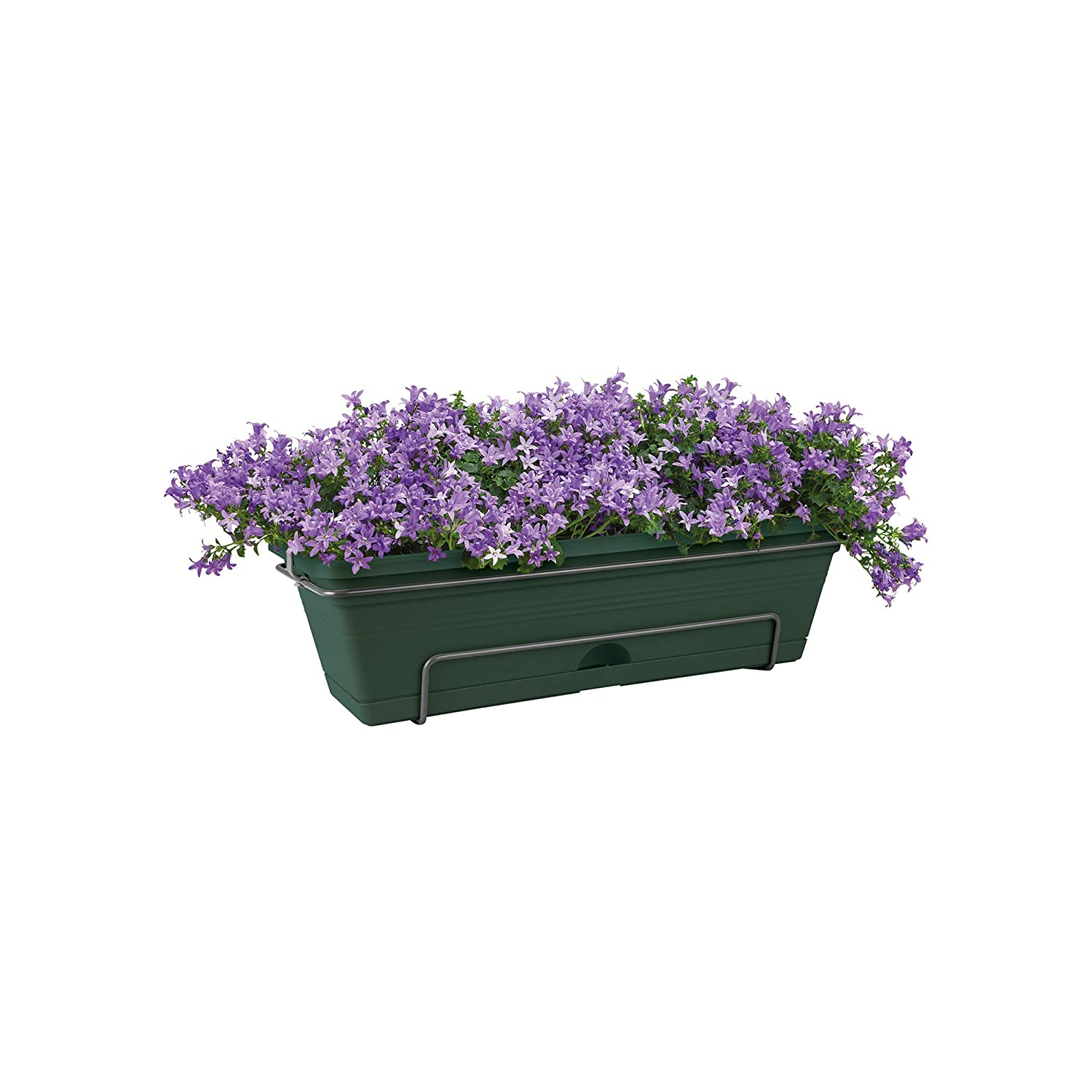 Elho Green Basics Trough Allin1 Jardinera, 7.4 litros, Blanco(Cotton), 47,3x25,7x16,7 cm