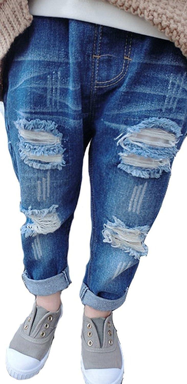 Amazon.com: ZIYOYOR Baby Boy Girl Ripped Jeans Boyfriend ...