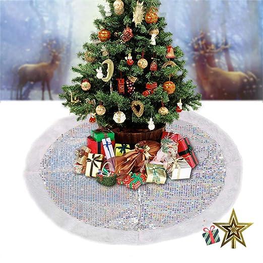 Odot Falda del árbol de Navidad, 95cm Suave Alfombra de Árbol ...