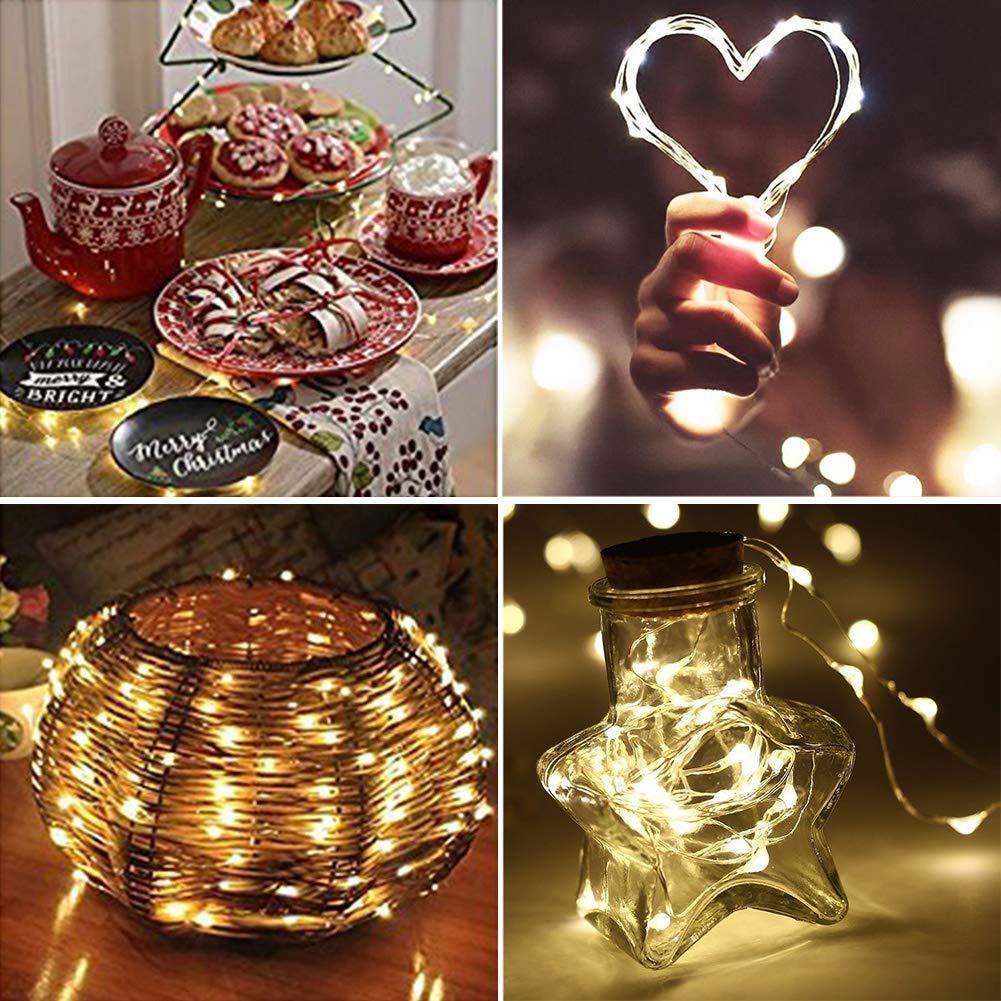 Botella de luz Luces de Botella de Vino Cadenas Luces para Botella de Luz, DIY Guirnaldas Luces Led Románticas para Boda,Navidad,Terraza,Blanco ...