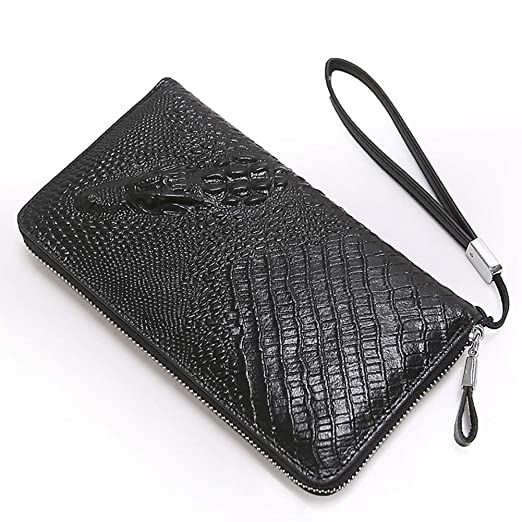 a29bea977f1 Image Unavailable. Image not available for. Color: Rangren Genuine Leather  Business Mens Clutch Bag Organizer Handbag Phone Card Carrier Purse Long  Wallet