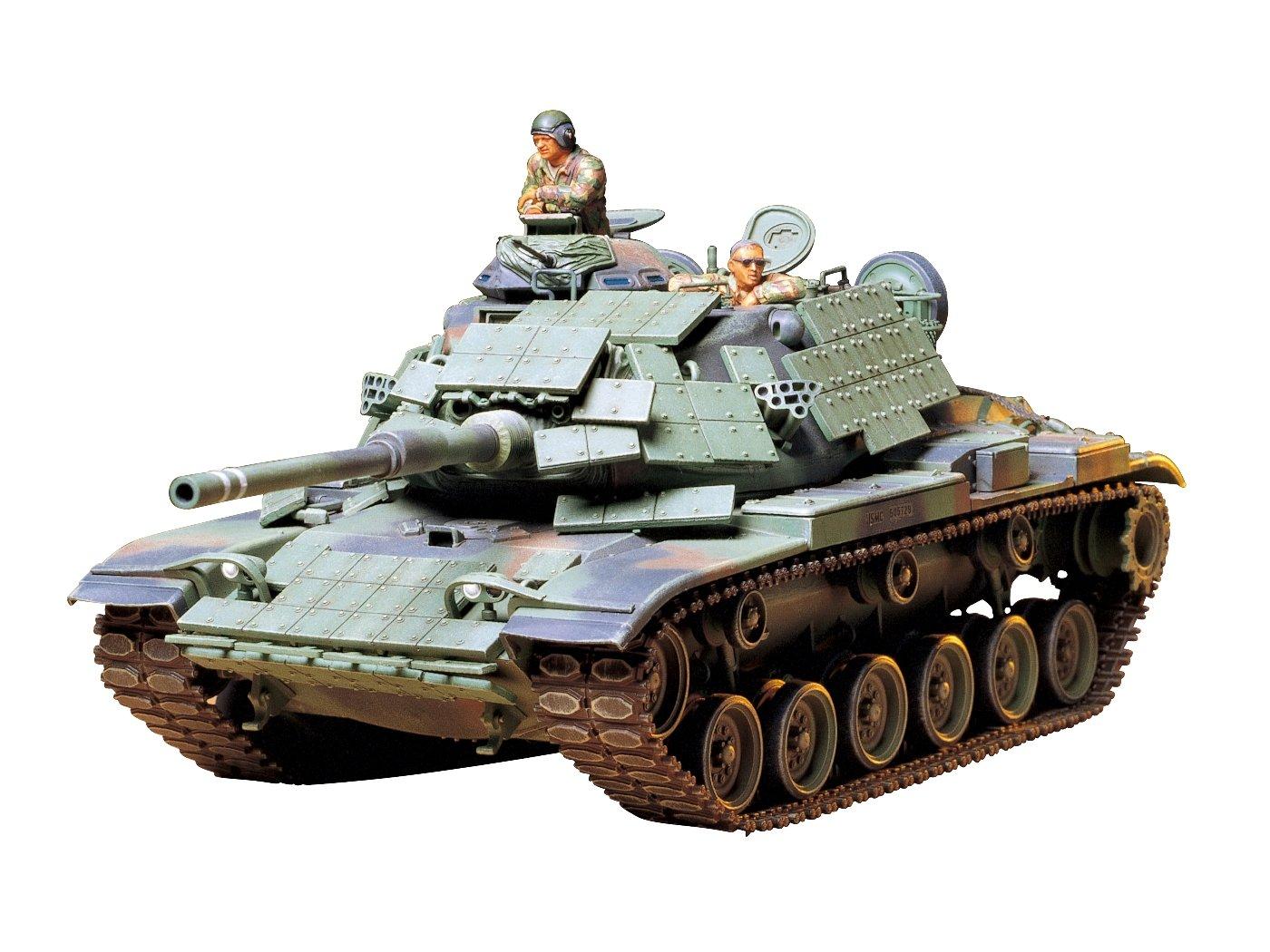 Tamiya 300035157-1: 35US Navy Combat Tank M60A1with Reactive-(3)