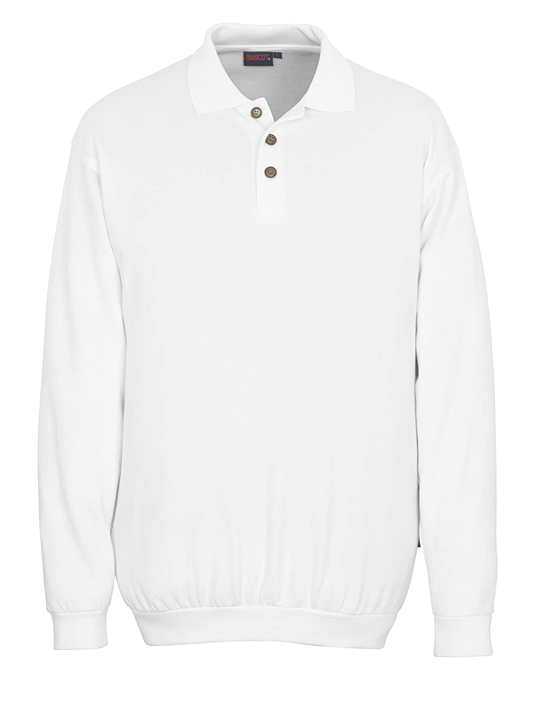 White Mascot 00785-280-06-4XL Trinidad Polo Sweatshirt 4X-Large