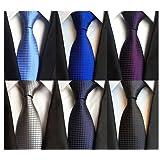 LOLONG Men's Classic Silk Tie Set 6 PCS Necktie