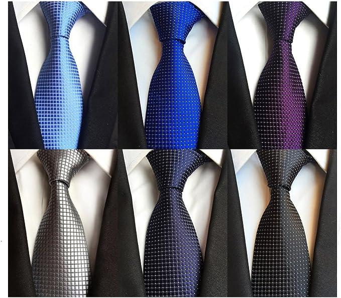 Mens Formal Necktie Set Red /& White Thin Striped Luxury Silk Tie Set UK Stock