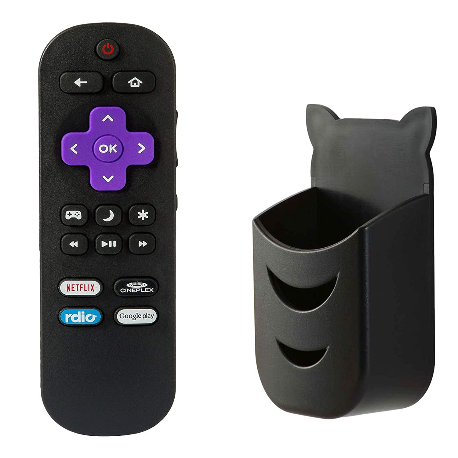 Remote Control fit for Insignia Roku TV NS-40DR420NA16 NS-48DR420NA16  NS-48DR420CA16 NS-40DR420CA16 NS-32DR420NA16 NS-55DR420NA16 TVs with Holder