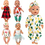 Ecore Fun 10 Item 14-16 Inch Baby Doll Clothes Dresses Outfits Pjs for 43cm New Born Baby Dolls, 15 Inch Bitty Baby Doll…