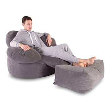 Miraculous Lounge Pug Sabre Tooth Soft Pastel Bean Bag Footstool Set Machost Co Dining Chair Design Ideas Machostcouk