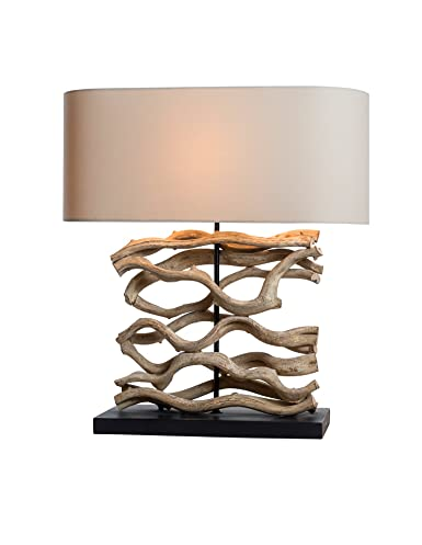 O Thentique Large Driftwood Vine Table Lamp Natural Turned Twisted