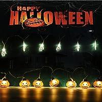 2 Pcs Halloween-pompoen LED-lichtslingers 4m 20 LED Halloween Decor Lichtslingers Batterij Aangedreven String Fairy…