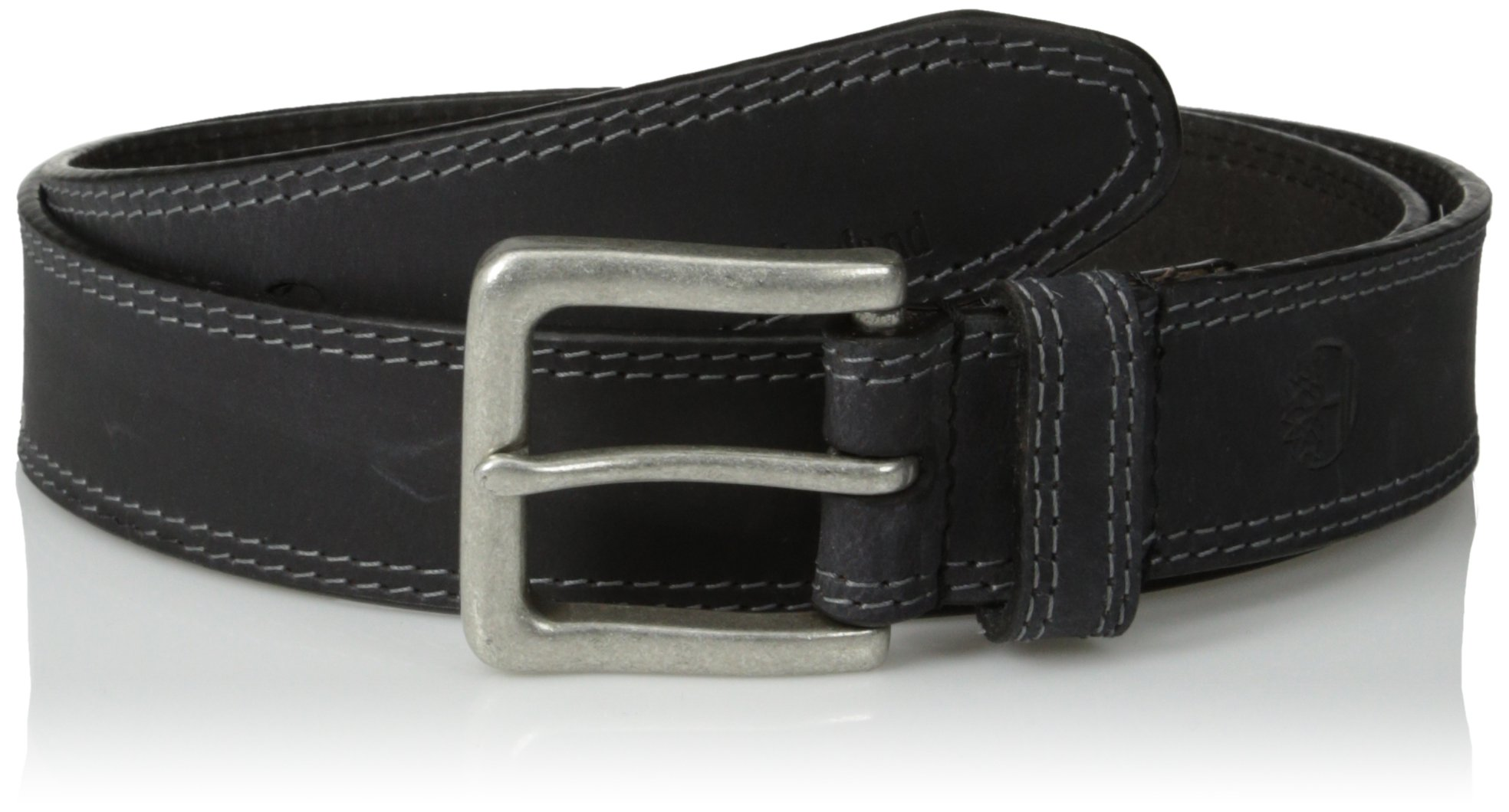 Timberland Men's 35Mm Boot Leather Belt, Black, 32
