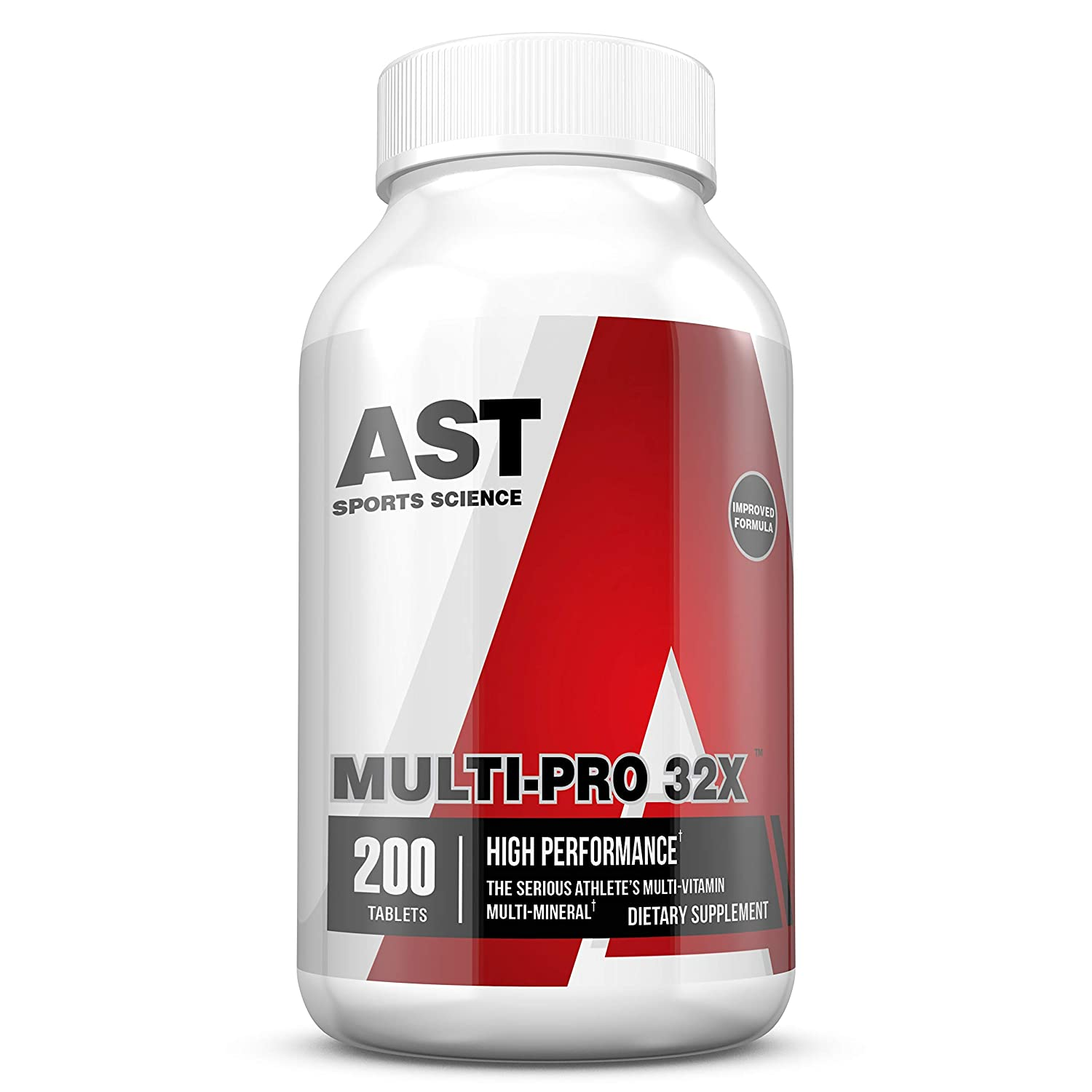 Multi-Vitamin Multi-Mineral – MultiPro 32X – 200 Tablets – AST Sports Science. High-Performance Multi for Optimizing Health and Performance.