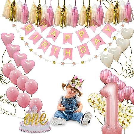 FOONEE - Juego de Decoraciones para Primer cumpleaños de ...